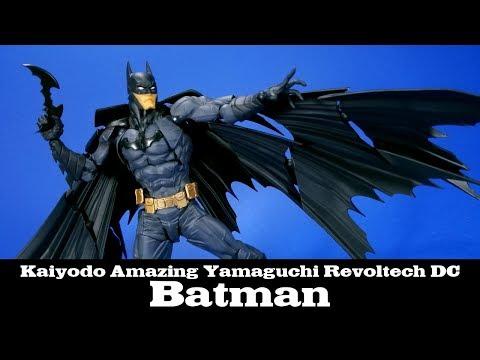 Amazing Yamaguchi Batman Kaiyodo Revoltech DC Action Figure Review