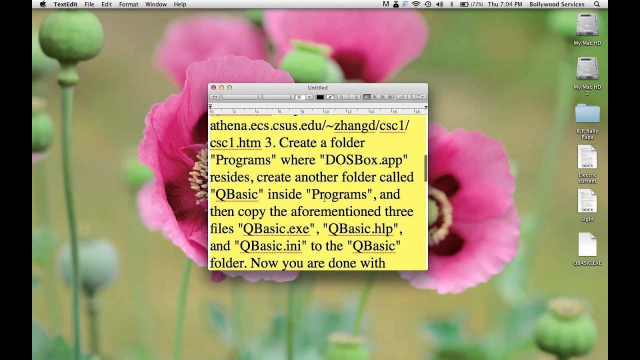 Installing Qbasic on Mac without using xcode