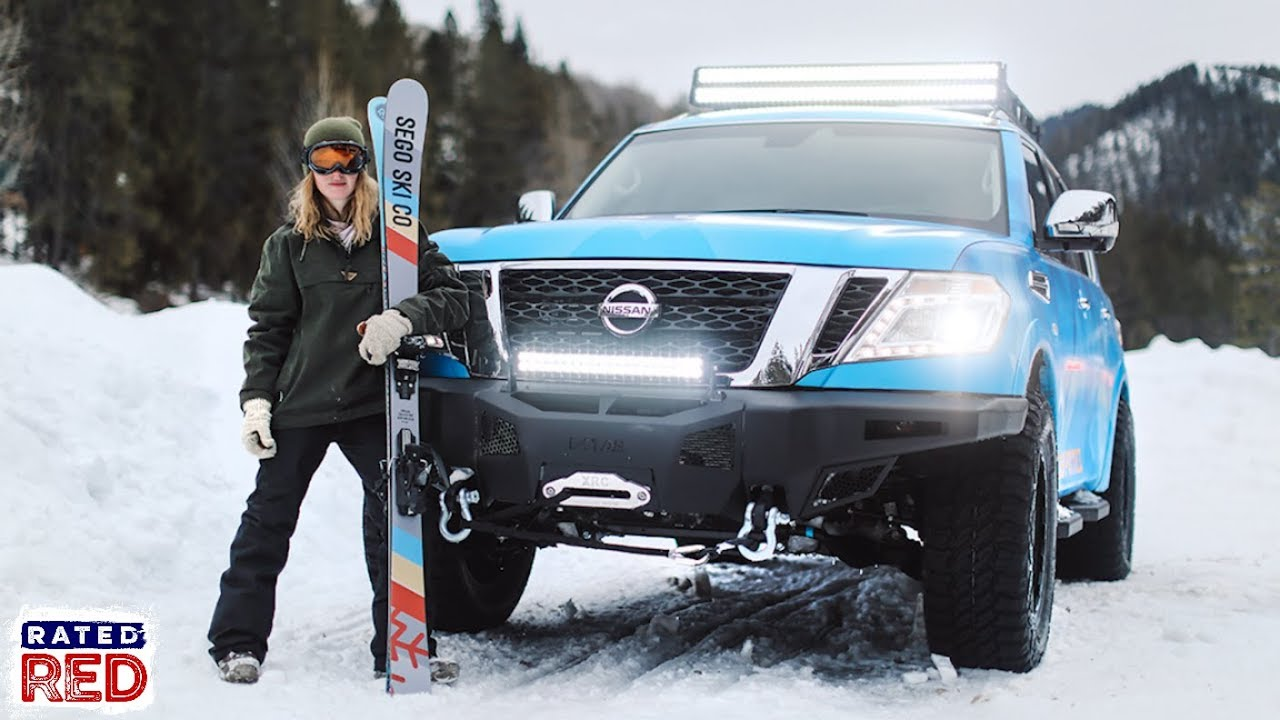 the nissan armada takes its off road capabilities to new heights with the snow patrol youtube the nissan armada takes its off road capabilities to new heights with the snow patrol