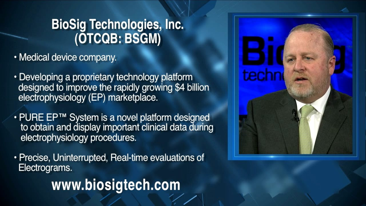 BioSig Technologies Inc. (OTCQB: BSGM) - YouTube