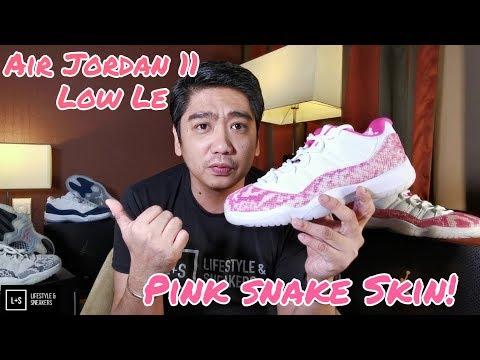 Air Jordan 11 Low LE Pink Snake Skin