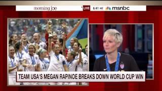 Megan Rapinoe stops by Morning Joe and talks with Mike Barnicle (10 July 2015)