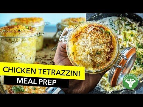 Meal Prep Low Carb Chicken Tetrazzini Recipe / Tetrazzini con Calabaza Espagueti