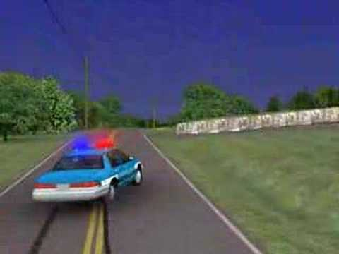 3d Police Car Crash Accident