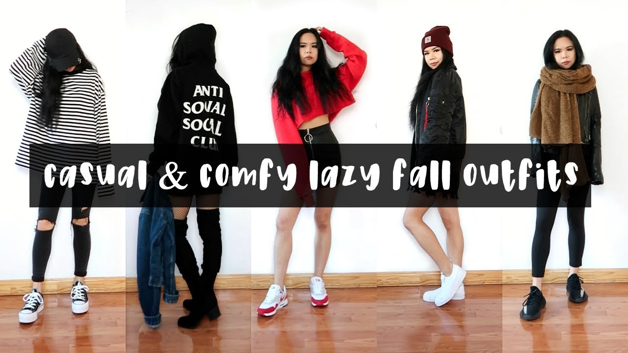 THE COMFIEST LOOKBOOK EVER // LAZY FALL OUTFITS