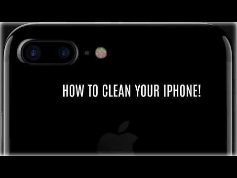 HOW TO CLEAN YOUR IPHONE+CASE!