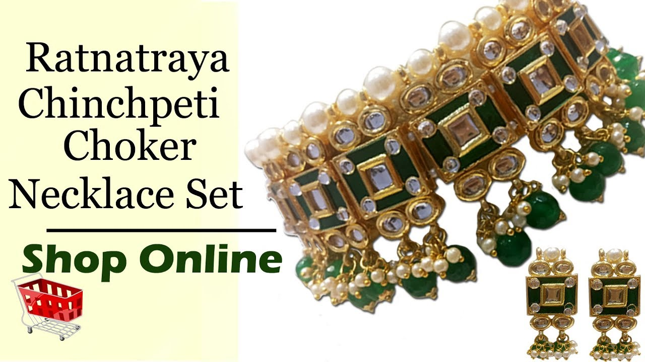 Ratnatraya Jewellery Shop Online For Chinchpeti Choker Necklace Set Ratnatraya Com