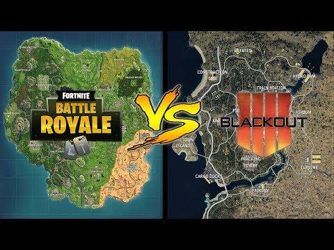 Fortnite Map VS Blackout Map – Map Size Comparison