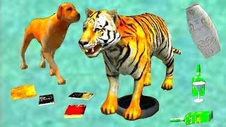 Играем в СИМУЛЯТОР КОТА 🐱🐱🐱 #17 ТИГР мульт-игра про котят развлекательное видео