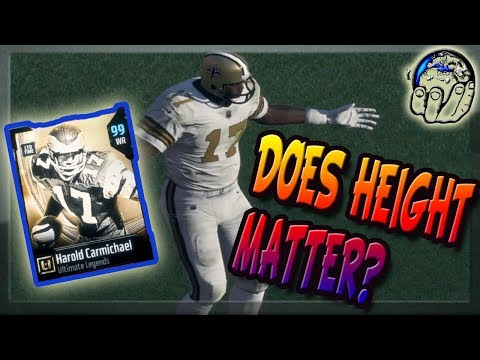 Does Height Matter In Madden 18? Using Harold Carmichael LTD 99 OVR To Find Out In MUT 18 Gameplay