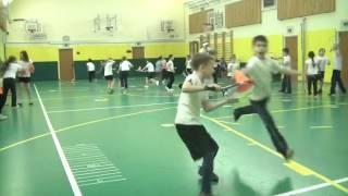 """Открытый урок по программе """"Теннис как третий час урока физической культуры в школе""""  2 класс"""
