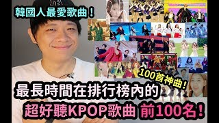 韓國人最愛!最長時間在排行榜內的KPOP歌曲 前100位!DenQ