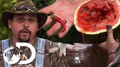 Mike & Daniel Put A Hot New Twist On Watermelon Moonshine | Moonshiners