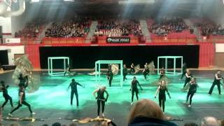 Ben Davis Winter Guard State Finals Performance 2016-What is it With All These Lines and Corners