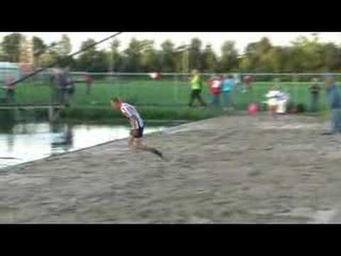 World Record -- Canal jumping (with pole, 20.41 metres)