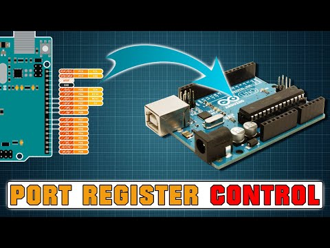Port Register Control | Increase speed of Read/Write - Ardui
