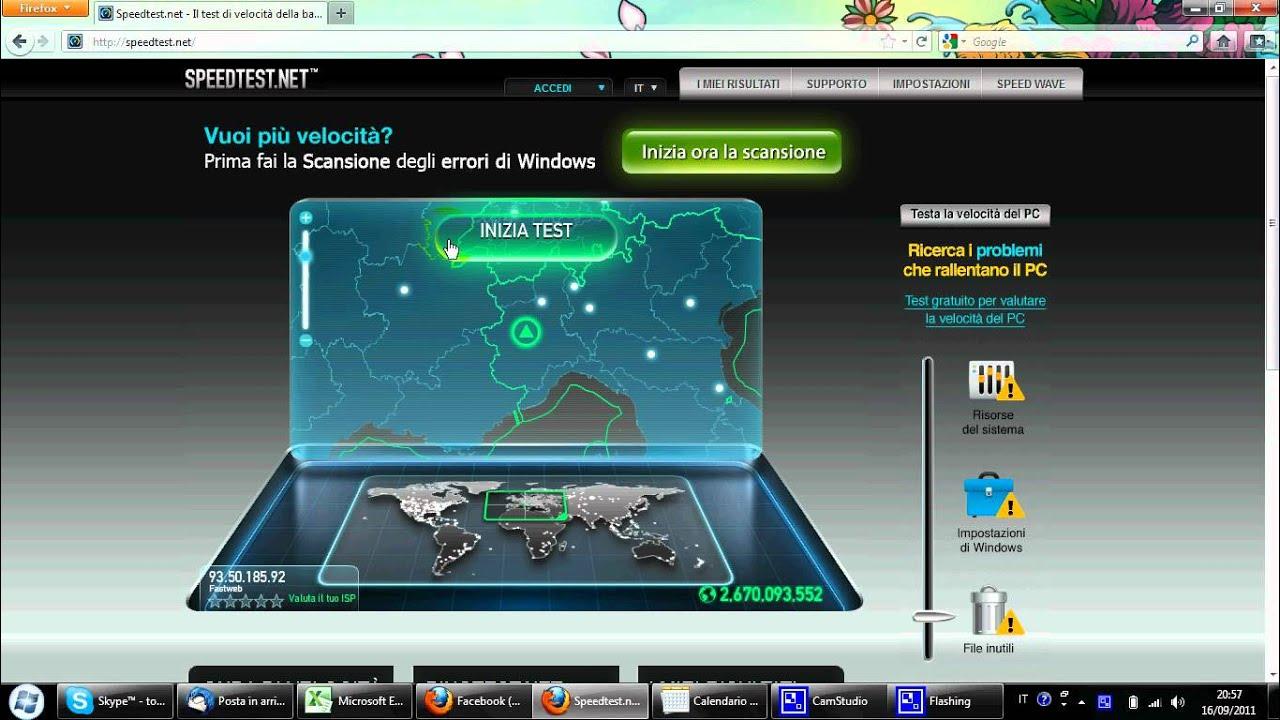 Speed Test 100 MB Fastweb