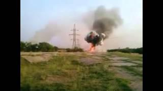 Бойцы украинской армии сняли на видео уничтожение машины сепаратистов с боекомплектом
