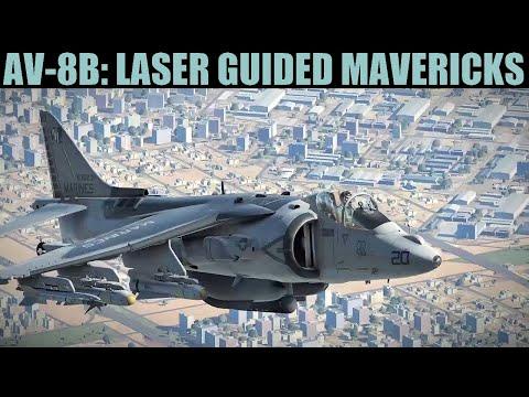 AV-8B Harrier: AGM-65E Laser Guided Maverick Tutorial   DCS WORLD