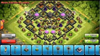 Clash of Clans Th9 Trophy/War base - Halloween Update - 4th mortar