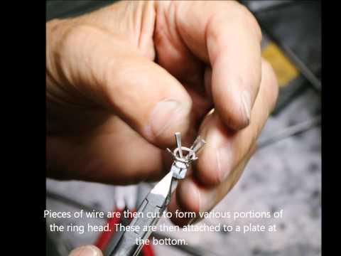 Making Fully Handmade Engagment Ring in Platinum and Diamond