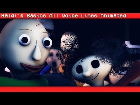 [SFM BALDI] Baldis Basics In Learning All Voice Lines  (Animation)