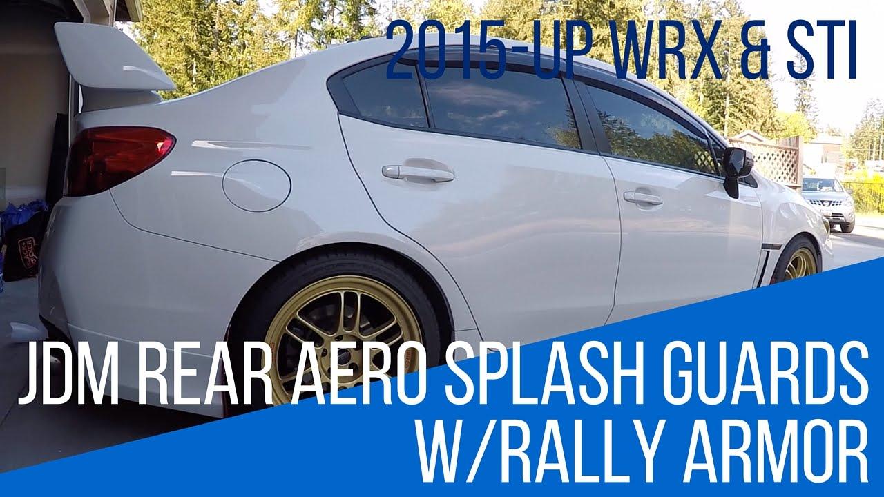 Jdm Rear Aero Mud Flaps Spats W Rally Armor Mud Flaps