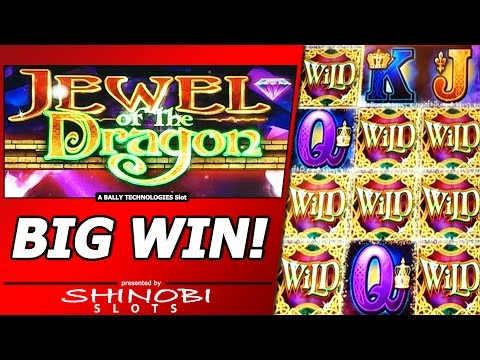Jewel of the Dragon Slot Bonus - Free Spins, Big Win with Locked Wilds!