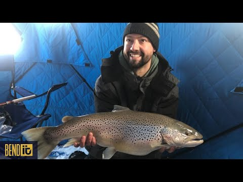 Jigging Spawn Sacs For German Brown Trout- Lake Michigan