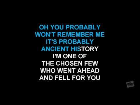 Insensitive in the style of Jann Arden karaoke video with lyrics