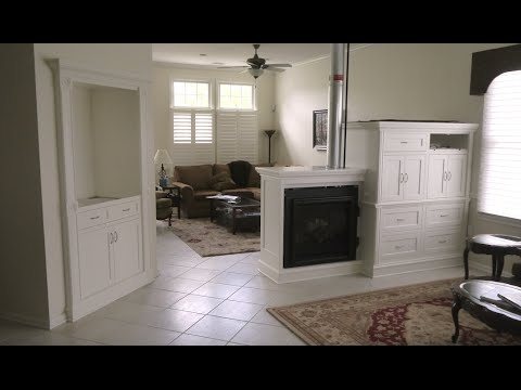 How to build a custom hutch and entertainment center with for How to build a double sided fireplace