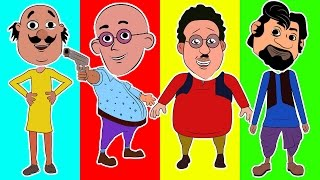 Heads Motu Patlu in Hindi trolls Ghasitaram vs Chingam Finger Family Song Nursery Rhymes