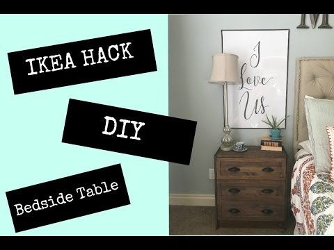 Ikea hack diy bedside table youtube ikea hack diy bedside table watchthetrailerfo