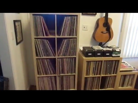 Ikea kallax for vinyl storage on wheels youtube for Ikea lp storage