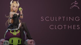 Sculpting Clothes Tutorial - Zbrush 4R7