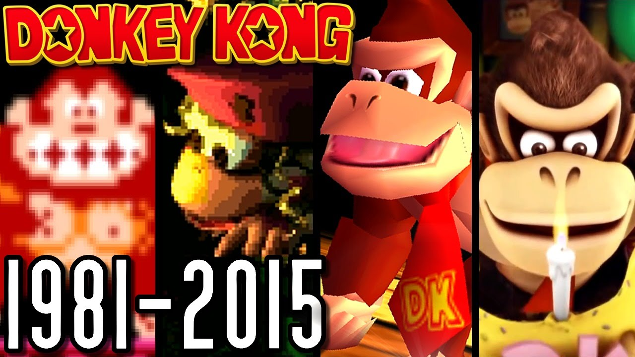 Donkey Kong All Intros 1981 2015 Wii U N64 Snes Arcade Youtube