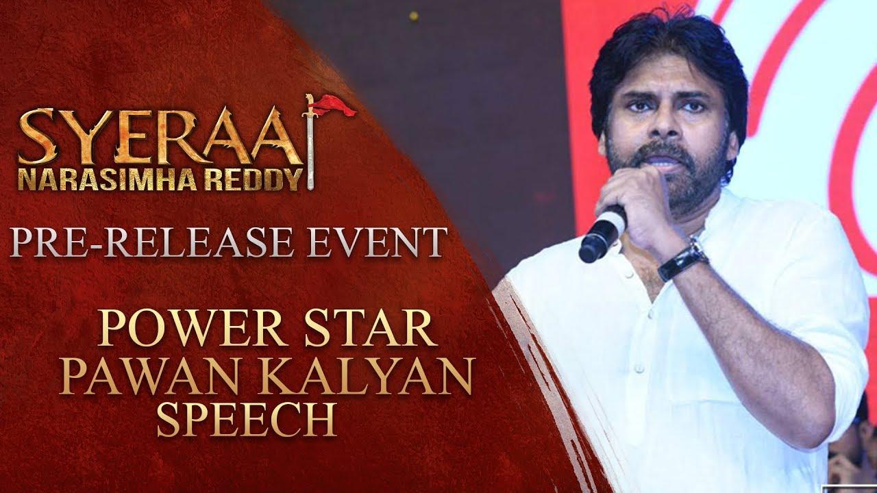 Download Power Star Pawan Kalyan Speech - Sye Raa Narasimha Reddy Pre Release Event