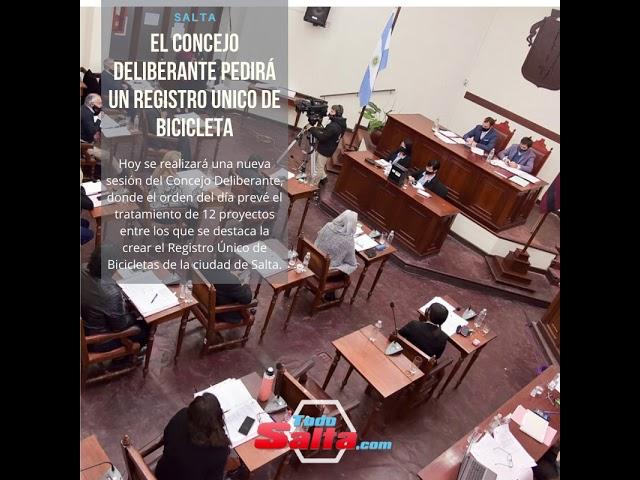 EL CONCEJO DELIBERANTE PEDIRÁ UN REGISTRO UNICO DE BICICLETAS