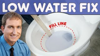Why Is There Low Water Level In The Toilet Bowl And How to Repair