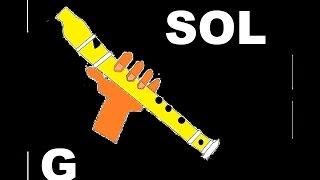 La canción más fácil y hermosa para flauta dulce. Tutorial con animación HD.