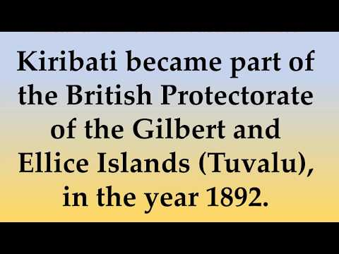 Historical And Cultural facts about Kiribati