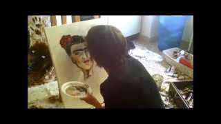 Maria Suppa - la mia arte, la mia salvezza... le mie mani, pennelli per Frida.