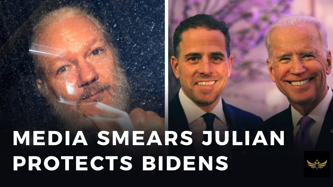 MEDIA smears Assange while they protect Joe & Hunter Biden (Before the video)
