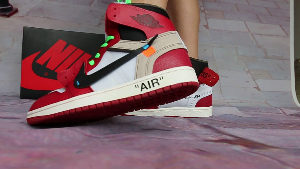 Off White X Air Jordan 1 Shoes On Feet Hd Review Youtube
