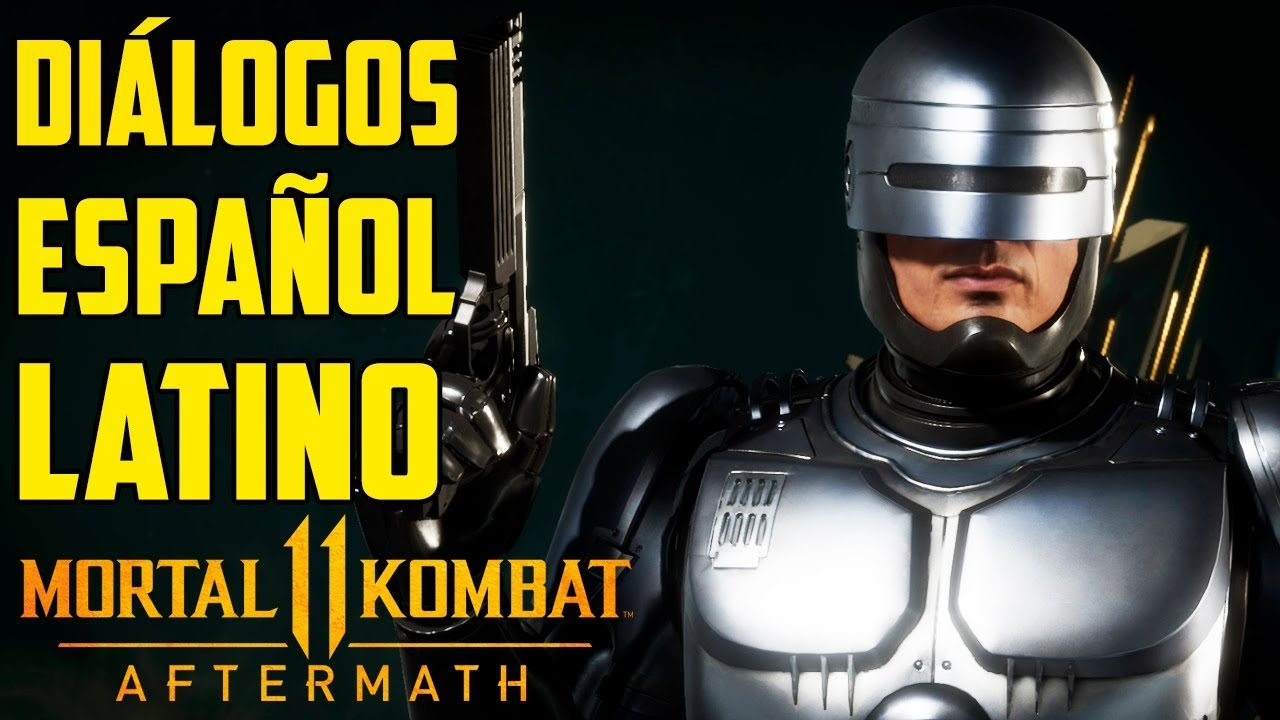 Mortal Kombat 11 Aftermath | Español Latino | Todos los Diálogos | Robocop |