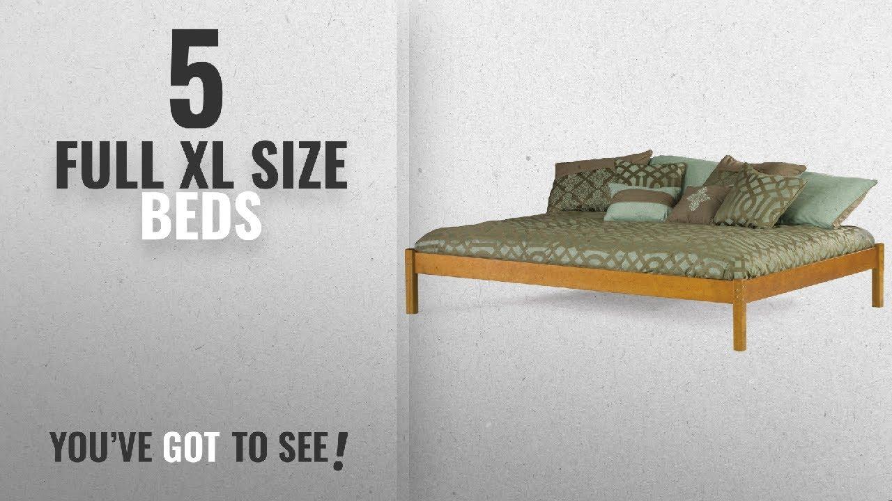 937109c6825 Top 10 Full Xl Size Beds  2018   Atlantic Furniture AS8061007 Studio  Concord Hardwood Platform Bed