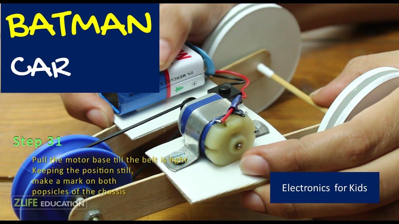 Batman Car - Electronics Activity for Kids - YouTube