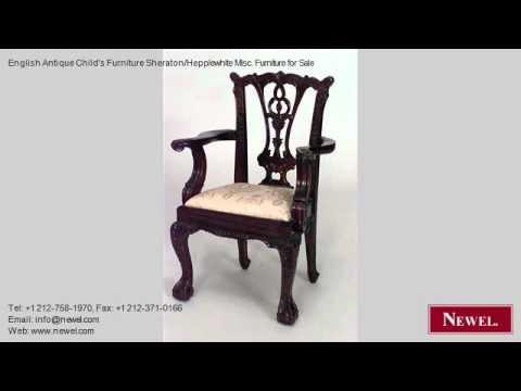 English Antique Child's Furniture Sheraton/Hepplewhite