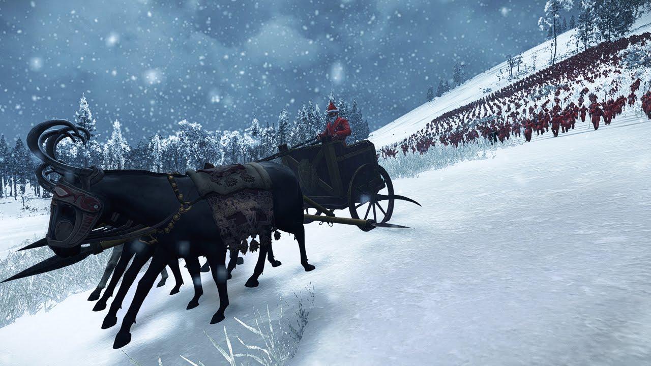 Santa Claus and 4000 Christmas Elves VS 1000 Archers Rome 2 Total ...