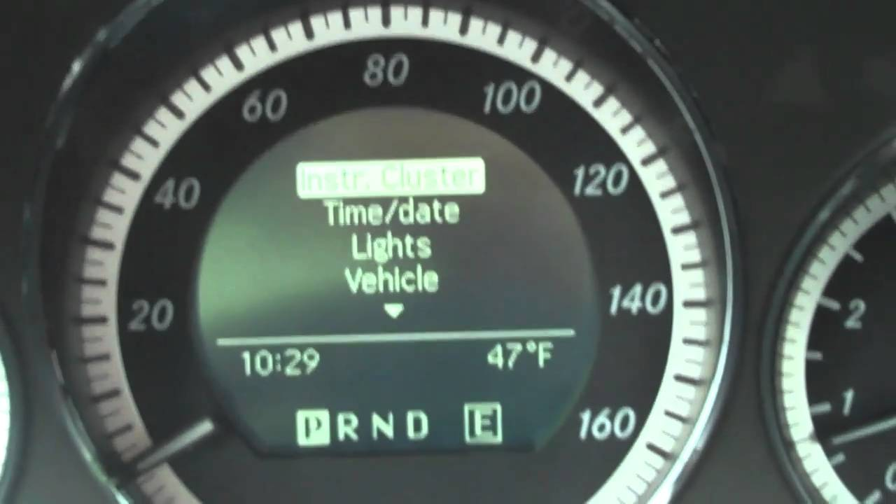 Setting The Clock On The Mercedes C300 Without The